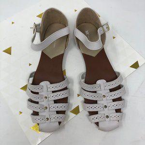 MK Michael Kors White Sandals Ankle Strap 8